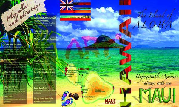 3-folded brochure Hawaii cover spread by Ganna Sheyko AnnaArtDesign