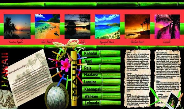 brochure Hawaii inside spread by Ganna Sheyko AnnaArtDesign