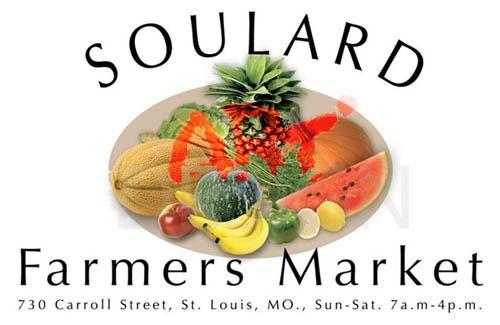 poster soulard market in St. Louis , MO designed by Ganna Sheyko / Anna Art