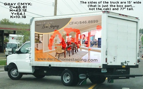 Wrap truck for Dazzle Home Staging