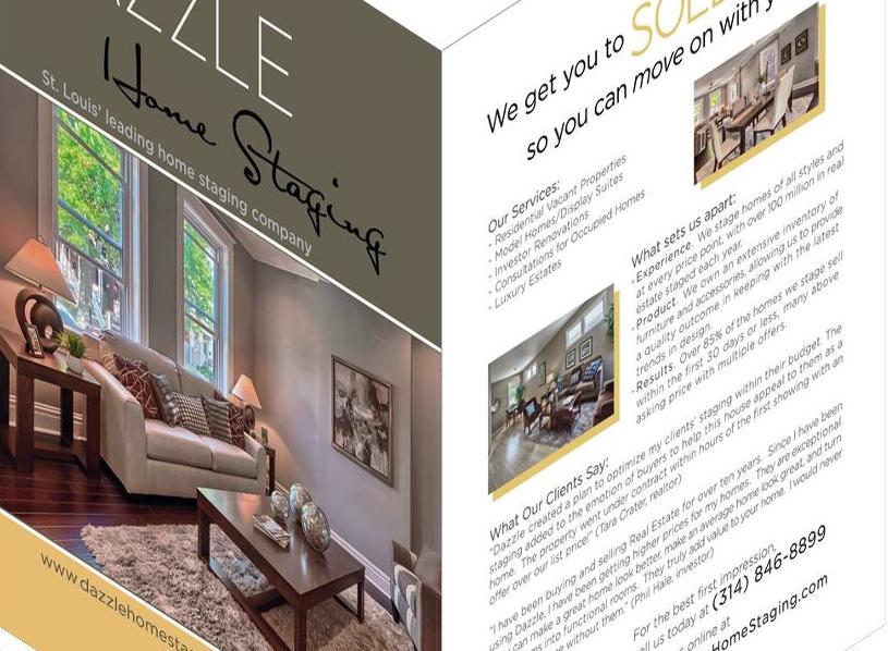 Dazzle Home Staging Flyer designed by Ganna Sheyko / Anna Art