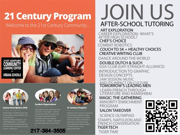 poster for 21 century program Urbana Il designed by Ganna Sheyko / Anna Art