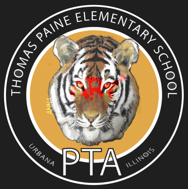 PTA Logo Thomas Paine Elementary School Urbana Il designed by Ganna Sheyko / Anna Art Design