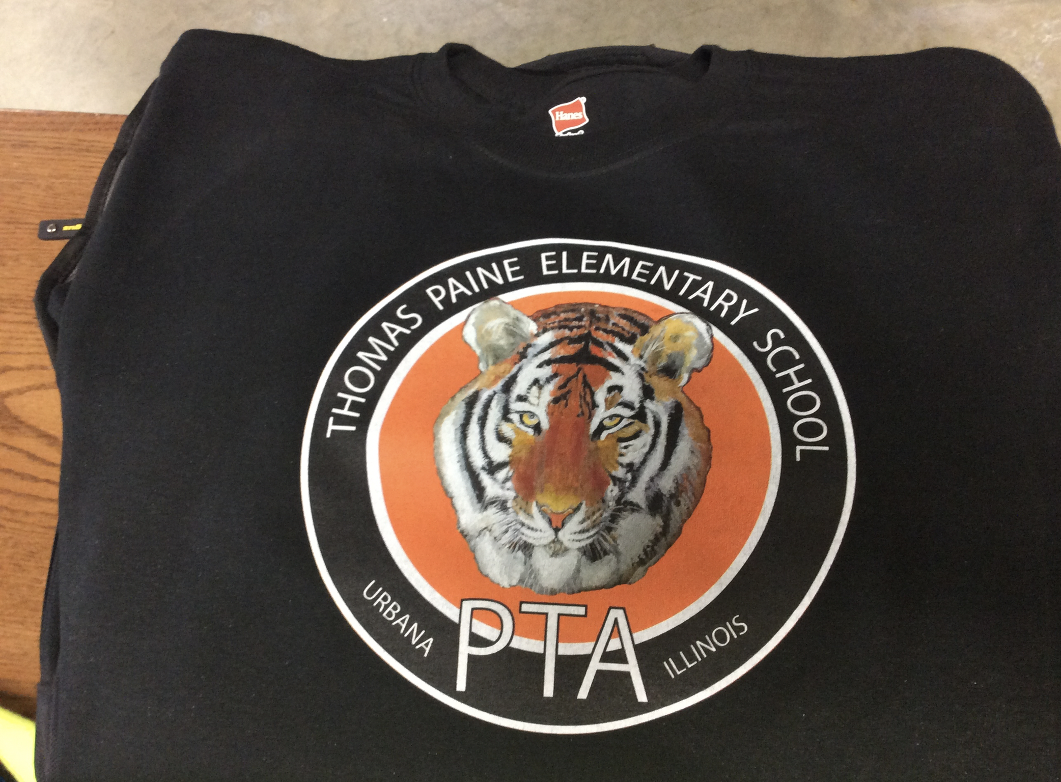 T-Shirts (multi colors) and logo for kids at Thomas Paine Elementary School designed by Ganna Sheyko / Anna Art Design