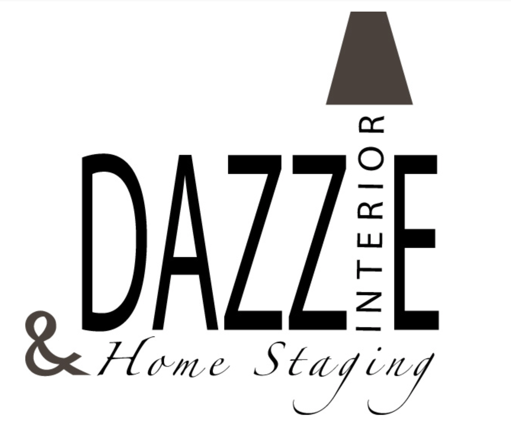 logo Dazzle Interior Home Staging  Black&White version logo by Ganna Sheyko / Anna Art Design