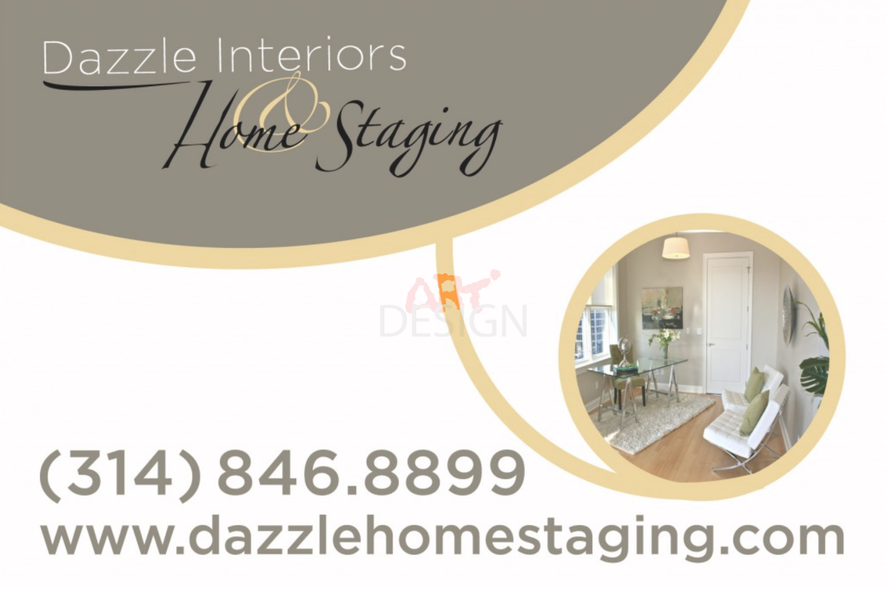 Business Card Dazzle Home Staging by Ganna Sheyko AnnaArtDesign