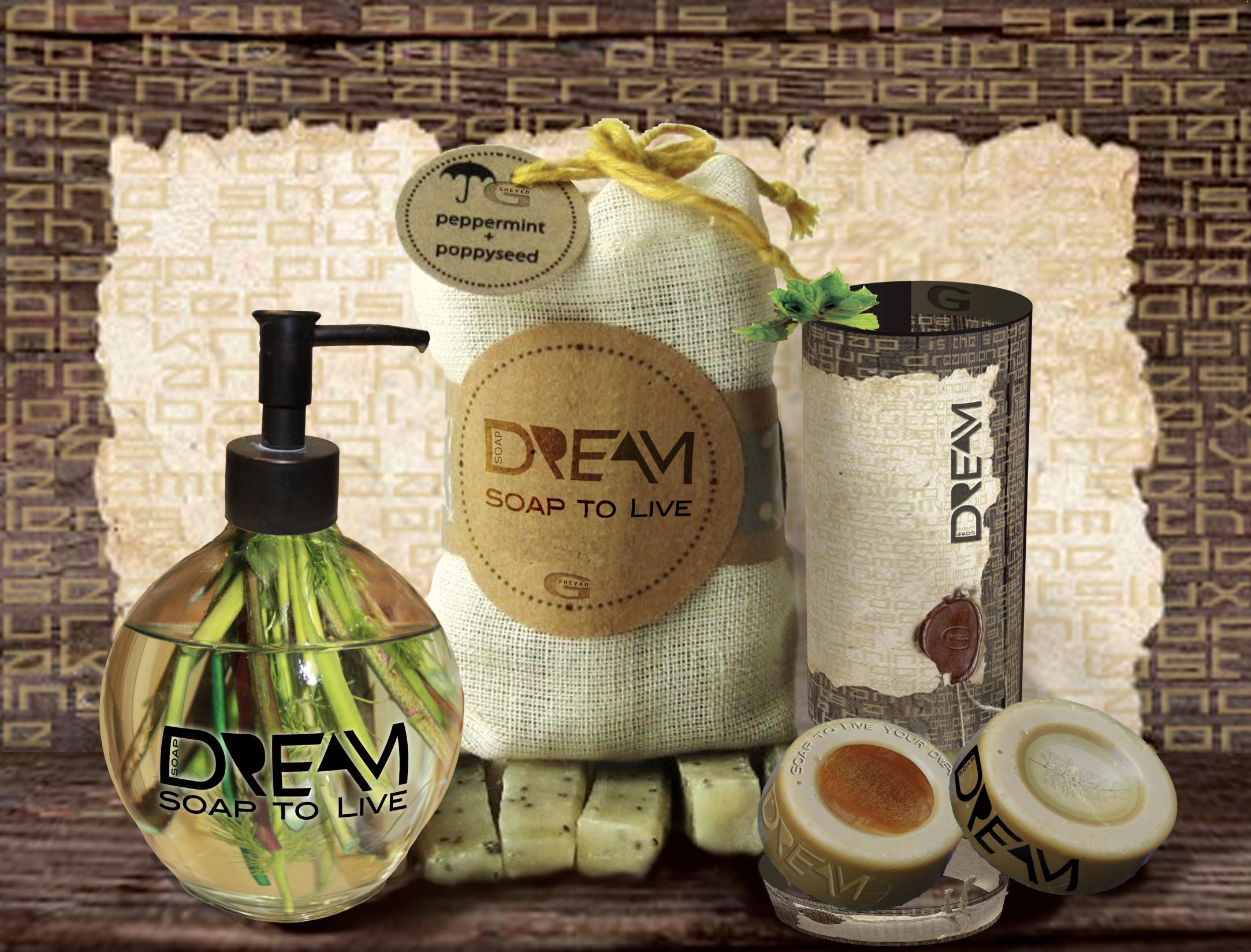 Promotion branding DREAM soap by Ganna Sheyko / Anna Art Design