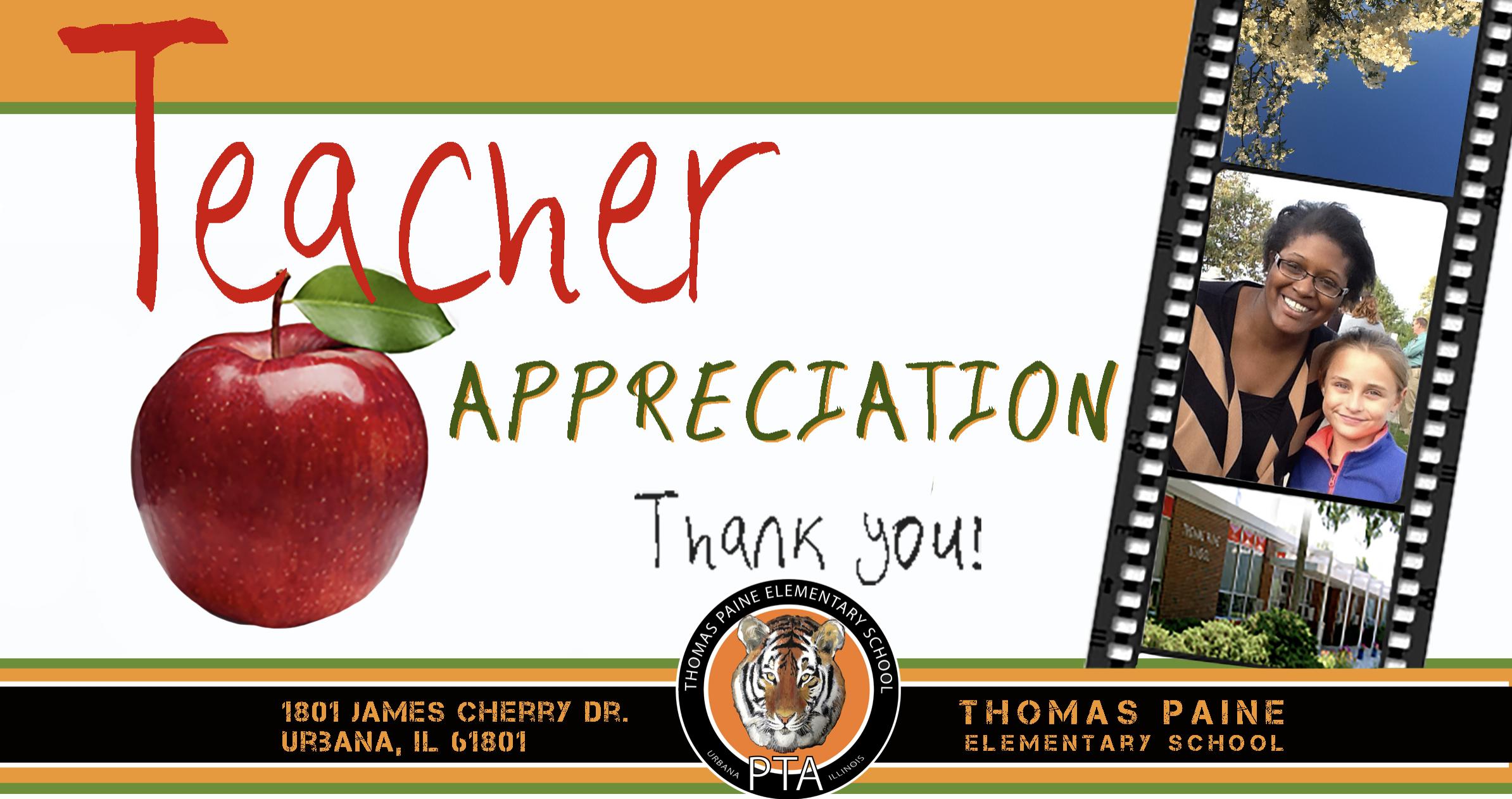 Thomas Paine Elementary School Urbana IL teacher appreciation week by Ganna Sheyko Anna Art Design